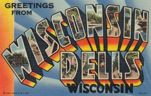 Large Letter WISCONSIN DELLS , 1930-40s