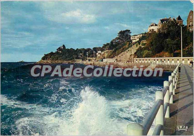 Modern Postcard Emerald Coast Dinard Effect of Waves on the Promenade des Allies