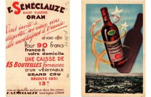 CPA publicité F. SÉNÉCLAUZE - Saint Eugene ORAN (308100)