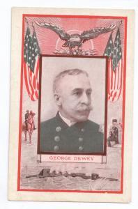 George Dewey Navy Admiral Vintage Patriotic Postcard