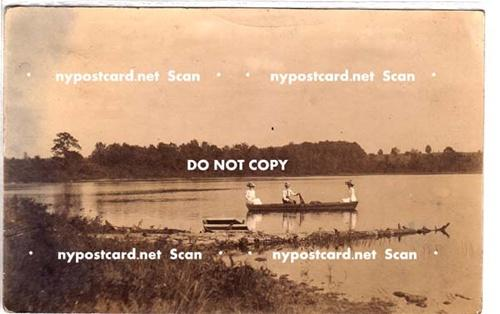 RPPC, Row Boat on Pond, LaFargeville NY