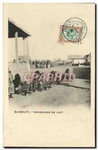 Old Postcard Djibouti Somali Women selling milk TOP