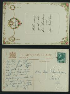 Tuck Dainty Christmas  series no C 4060postmarked Binbrooke