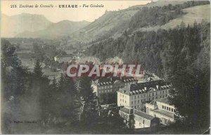 Old Postcard surroundings Grenoble Uriage Vue Generale