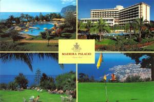 Portugal Madeira Palacio Funchal Madeira Swimming Pool Hotel Postcard