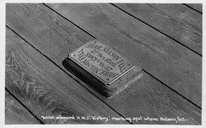 Tablet On Board H. M. S. Victory Marking Spot where Nelson Fell Postcard