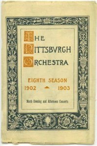 PITTSBURG PA - ORCHESTRA 8th Season program - FILLED WITH ADVERTISEMENTS / 1920s