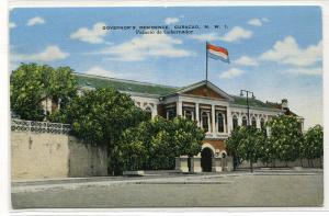 Governor's Residence Curacao NWI Dutch West Indies linen postcard