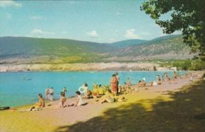 Canada Sunbathers At The Bathing Beach Penticton British Columbia
