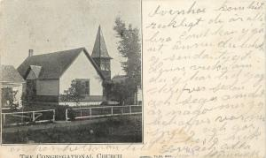 Ivanhoe Minnesota~The Congregational Church~1906 Postcard