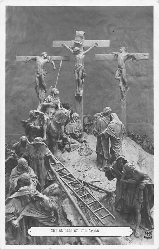 Christ dies on the Cross Religious Relief Mastroianni