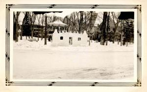 NH - Whitefield. Winter Carnival. Ice Structure on the Common, Winter 1933   ...