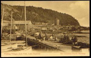 canada, JACK FISH, Ontario, Lake Superior, Fishing Town (1910s)