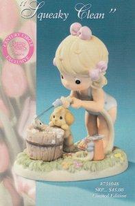 Precious Moments Figurine Squeak Clean , 2000