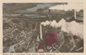SUDBURY , Ontario , Canada , 1930s ; Airplane View Of International Nickel
