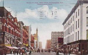 Minnesota Minneapolis Nicollet Avenue Looking West 1913