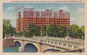 Indiana Indianapolis The Marott Apartment Hotel North Meridian At Fall Creek ...