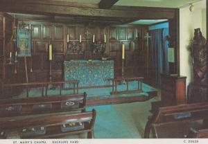 St Marys Chapel Bucklers Hard Hampshire 1970s Postcard