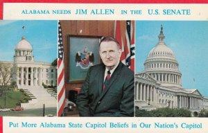 ALABAMA, 1950-60s; Alabama needs JIM ALLEN in the U.S. Senate