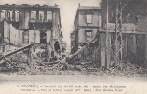 SALONIQUE, Greece, 1917; Destruction from Fire, Quay - Max Harden Street