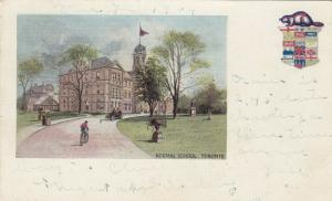 Normal School , Toronto , Ontario , 1904 ; Beaver Coat of Arms