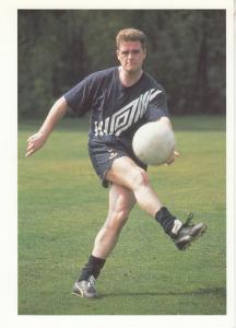 Paul Gascoigne English International World Cup Postcard