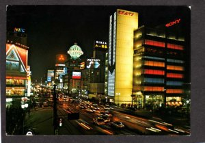 Japan Sony Calle de Ginza Night View Tokyo QE2 1977 World Cruise Posted 1977