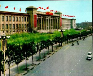 CI01358 china beijing peking museum of the chinese revolution old cars flags