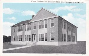 ELIZABETHTOWN, Pennsylvania , 10-20s; Gibble Science Hall, Elizabethtown College