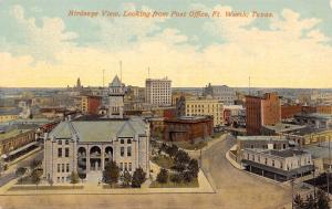 Ft Worth Texas~Bush & Gerts Piano~2:00 PM on Square (Not Really Square) c1910