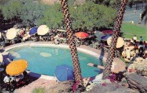 Poolside Party TENNIS CLUB Palm Springs CA Swimming Pool c1950s Vintage Postcard