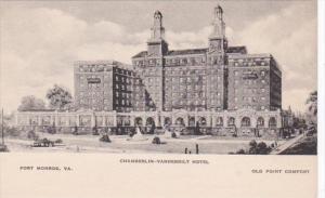 Virginia Fort Monroe Old Point Comfort Chamberlin-Vanderbilt Hotel Albertype