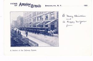 UNCOMMON ABRAHAM & STRAUS DEPARTMENT STORE HORSE DRAWN DELIVERY WAGONS, NYC