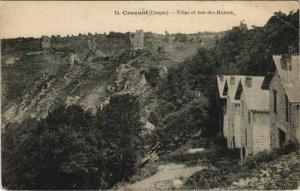 CPA CROZANT Villas et Vue des Ruines (1143583)