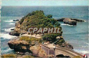 Modern Postcard Biarritz The rock of Baste