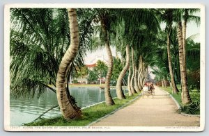Palm Beach FL Detroit Publishing #13437~Along Shore of Lake Worth c1910 Postcard