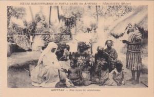 Africa Ghana Quittah Une lecon de Catechisme