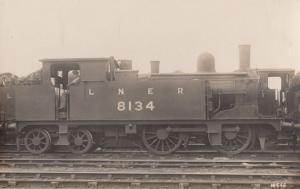 LNER 8134 Engine Train Vintage Railway Real Photo Postcard