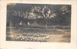 Des Moines Iowa~Union Park Scene~Pathway Through Flower Gardens~1910 RPPC