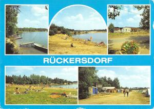 GG12762 Rueckersdorf Kr. Finsterwalde See Strand Campingplatz Lake Boats