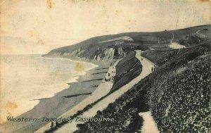 Western Parades Promenade Eastbourne Postcard