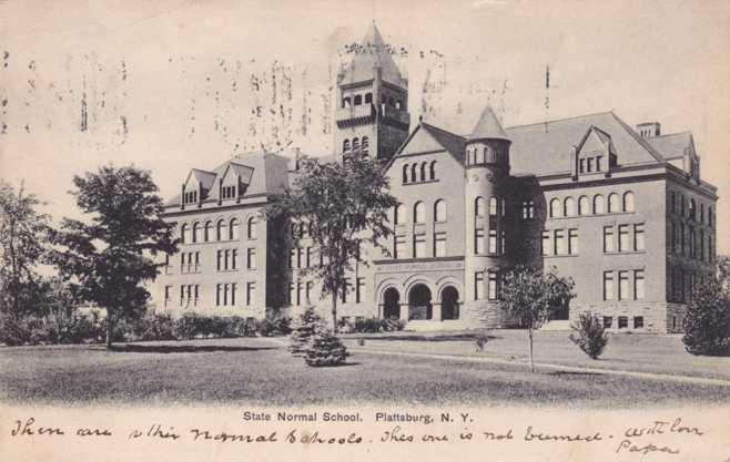 State Normal School At Plattsburgh Ny New York Pm 1906 Udb