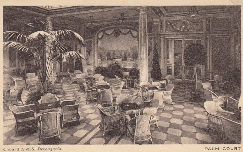 Ocean Liner Cunard R.M.S. Berengaria , Palm Court , 1910-30s
