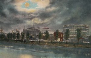 CHICAGO, Illinois, 1900-10s ; Riverview Park at Night