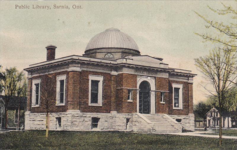 SARNIA, Ontario, Canada, 1900-1910's; Public Library