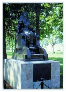 Postcard Herbert Hoover Presidential Library West Branch IA Egyptian Goddess K23
