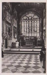 RP: Interior View of the Sanctuary, Parish Church, Stratford-Upon-Avon, Warwi...