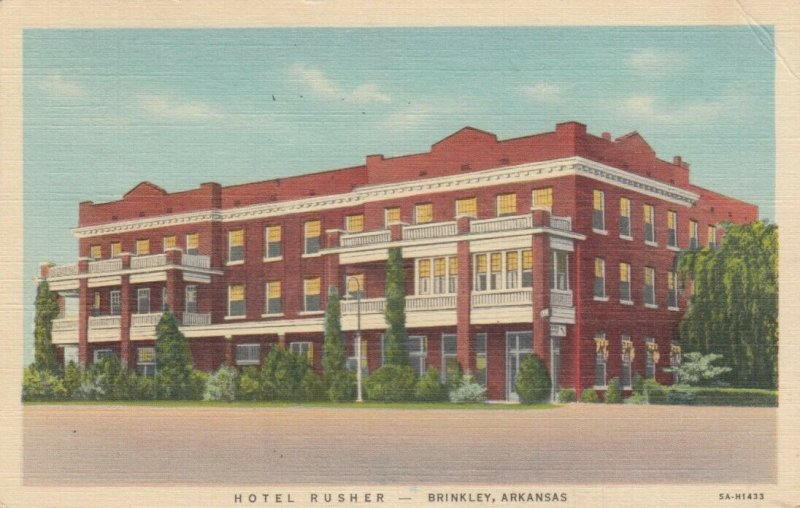 BRINKLEY , Arkansas, 1946 ; Hotel Rusher