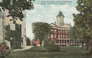 NORMAL , Illinois , 1909 ; Main Bldg & Gym , Normal University