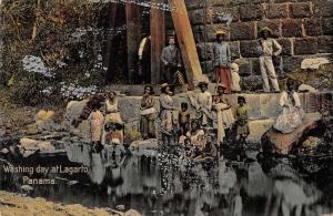 Lagarto Panama Washing Day Laundry Antique Postcard J74750